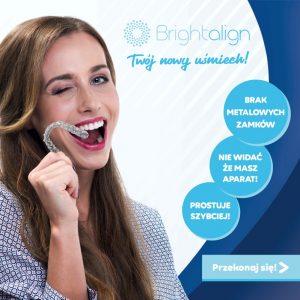Brightalign - niewidzialna ortodoncja nakładkowy to najbardziej komfortowy sposób prostowania zębów