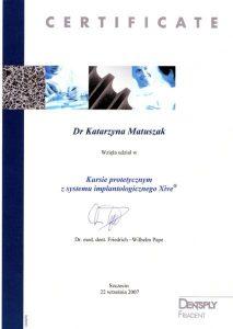 kurs protetyczny z systemu implantologicznego Xive