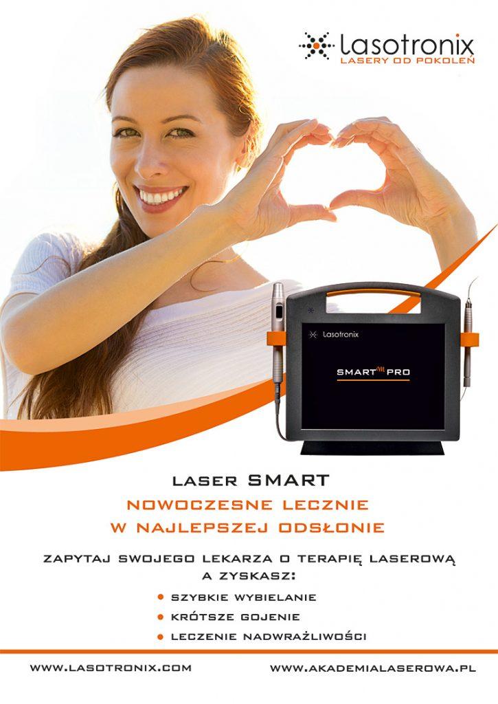 Laserowe wybielanie zębów szczecin jest możliwe dzięki laserowi SMART Lasotronix ze światłem o długości fali 980nm